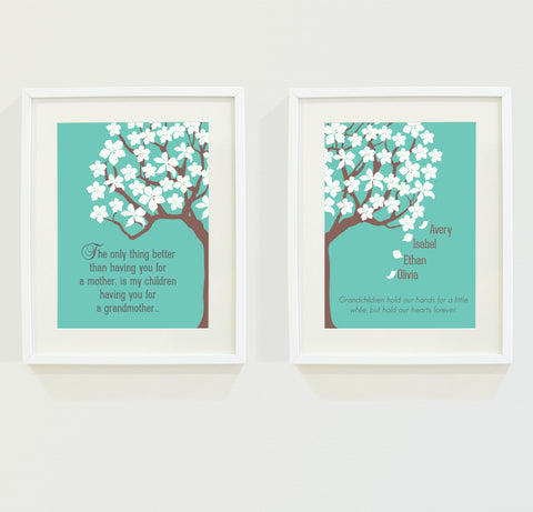 Personalized Grandmother Wall Art  Gift For Mom
