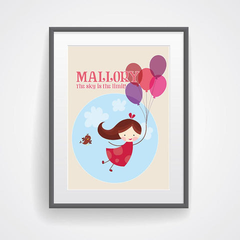Fly High Personalized Kids Wall Art