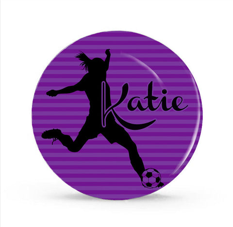 Soccer Girl Personalized Plate for Kids