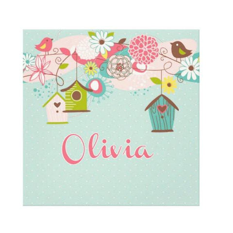 Beautiful Birdhouse Kids Wall Art