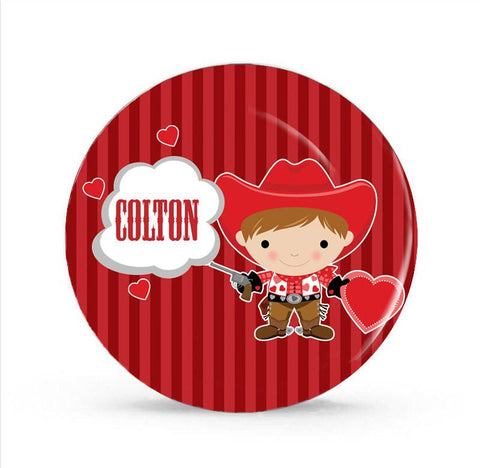 Love Cowboy Personalized Plate for Kids