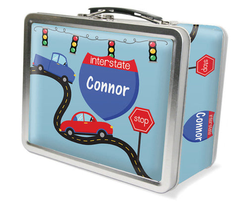 On The Road Again Personalized Kids Lunch Box