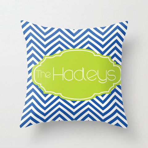 Chevron Monogram Monogram Throw Pillow