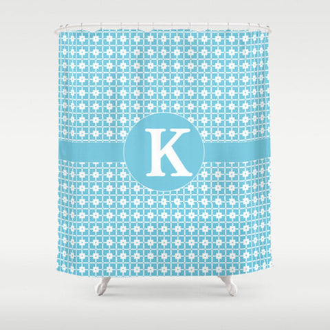Sky Blue Pattern  Personalized Shower Curtain