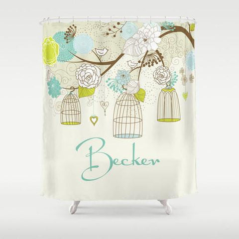 Birdcage Personalized Shower Curtain