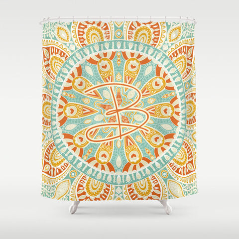 Ornate Designed Personalized Shower Curtain