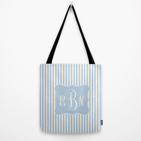 Monogram Striped Bag Monogram Tote Bag