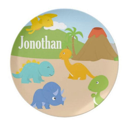 Dinosaur Plate  Personalized Plate For Kids