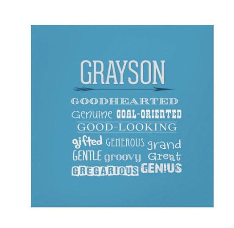 Letter G Affirmations Personalized Kids Wall Art