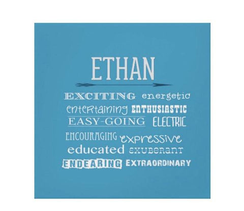 Letter E Personalized Kids Wall Art