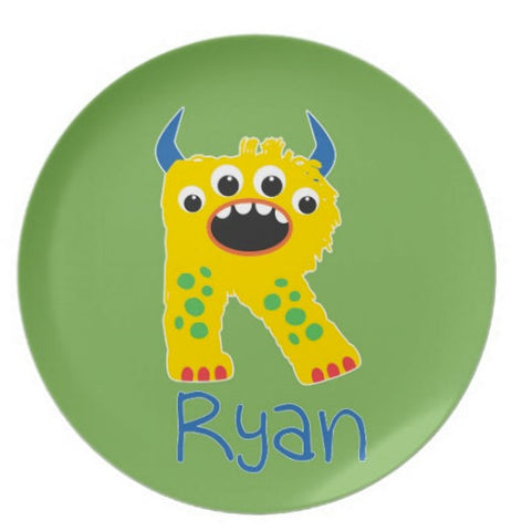 Monster Letter Personalized  Plate