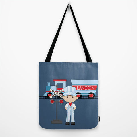 Train Conductor  Tote Bag For Kids