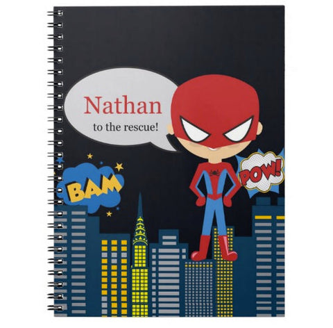 Super Spidey Boy Personalized Notebook