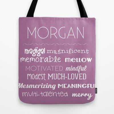 Letter M Affirmations Tote Bag For Kids