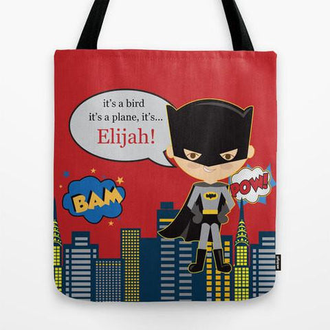 Bat Boy Tote Bag For Kids