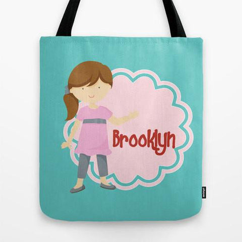 Happy Girl Tote Bag For Kids