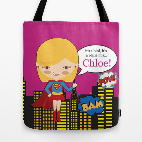 Super Girl Tote Bag For Kids