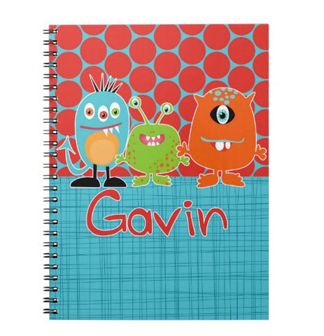 Monster Trio Personalized Notebook