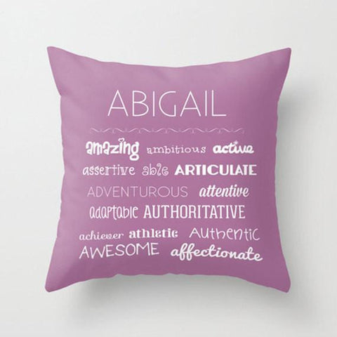Letter A -  Personalized Throw Pillow for Kids