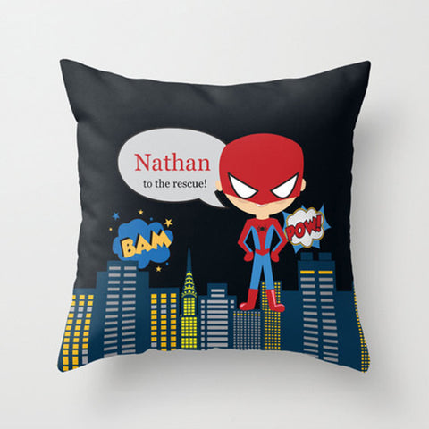Spidey Boy-  Personalized Throw Pillow for Kids