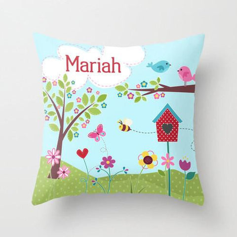 Beautiful Day - Personalized Throw Pillow for Kids