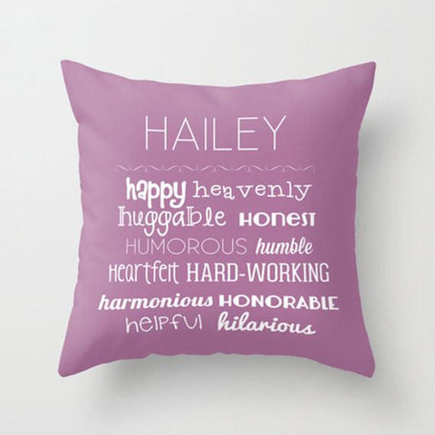 Letter H -  Personalized Throw Pillow for Kids