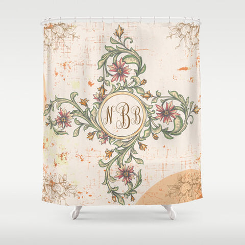 Vintage Vine Design -   Personalized Shower Curtain