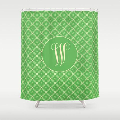 Green Moroccan Pattern Custom Shower Curtain