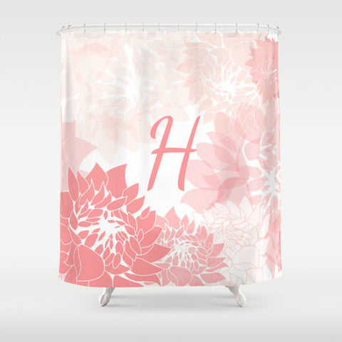 Shades of Pink Flowers Custom Shower Curtain