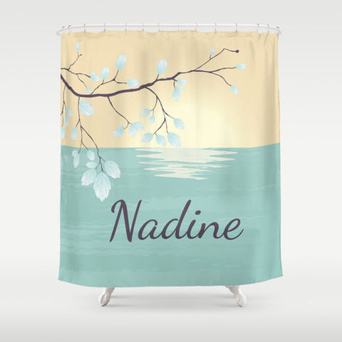Serene View Custom Shower Curtain