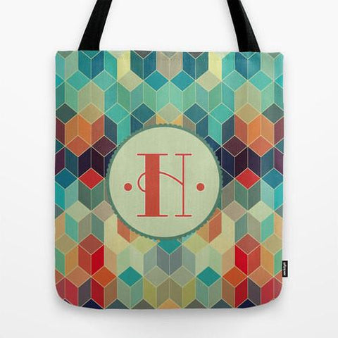 Colorful Prism Monogram Tote Bag