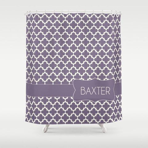 Lilac Moroccan Custom Shower Curtain