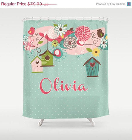 Beautiful Birdcage  Personalized Shower Curtain
