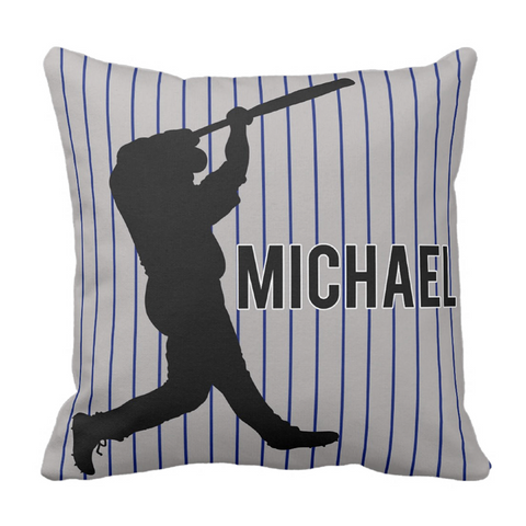 Home Run Personalized Throw Pillow