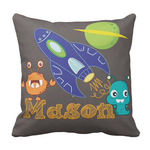 Lost in Space Personalized Throw Pillow