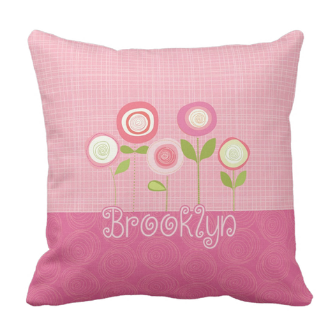 Pbeautiful Blossoms ersonalized Throw Pillow