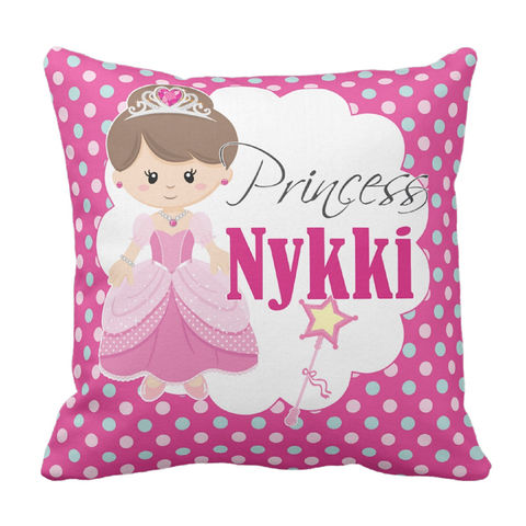 Pretty Princess Personalized Throw Pillow