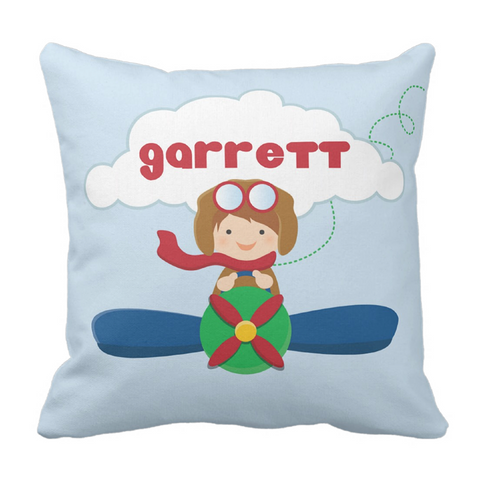 Little Aviator Personalized Throw Pillow