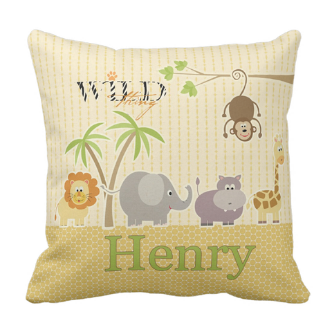 Wild Thing Personalized Throw Pillow