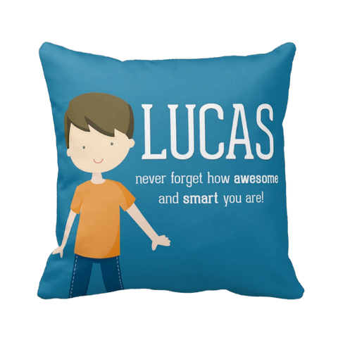 Happy Boy Personalized Pillow