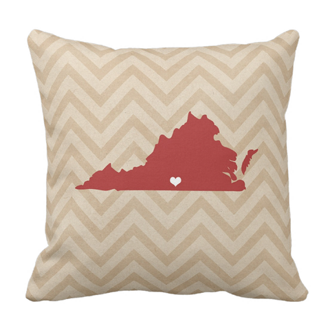 Red State Love Throw Pillow