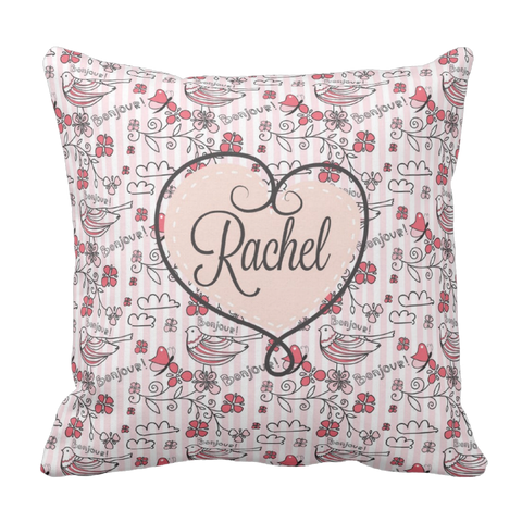 Love Paris Personalized Throw Pillow