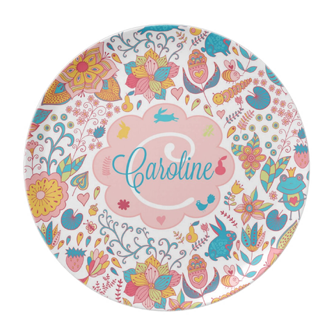 Woodland Animals Personalized Plate For Kids