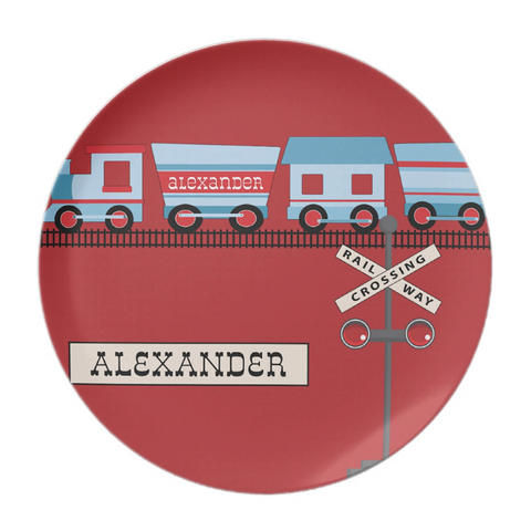 All Aboard Personalized Plate