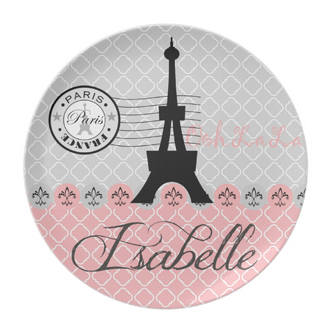 Eiffel Tower Personalized Plate