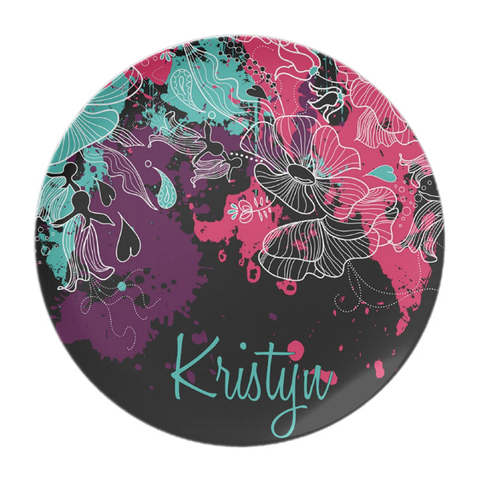 Paint Splatter Personalized Plate