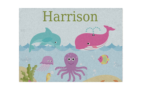 Under The Sea Personalized Activity Rug