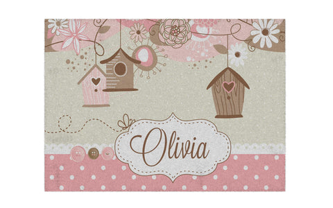 Beautiful Birdhouse Personalized Rug