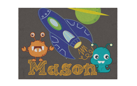 Space Alien Personalized Rug