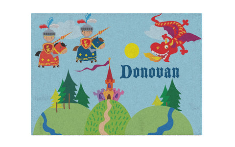 Knightly Knight Personalized Activity Rug